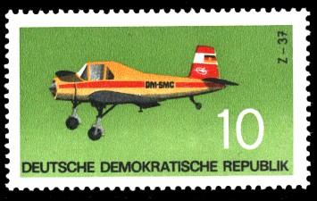 10 Pf Briefmarke: Flugzeugtypen, Z-37