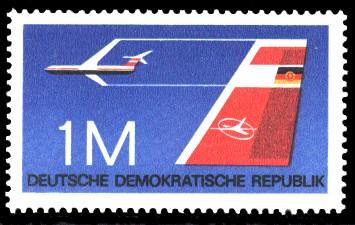 1 M Briefmarke: Flugzeugtypen, Leitwerk