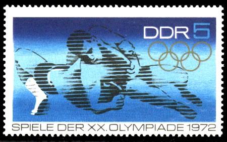 5 Pf Briefmarke: Spiele der XX. Olympiade 1972