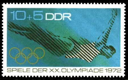 10 + 5 Pf Briefmarke: Spiele der XX. Olympiade 1972