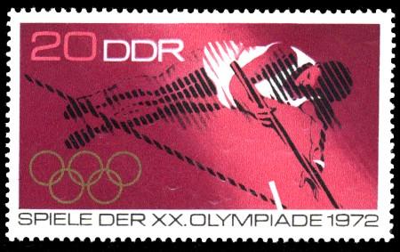 20 Pf Briefmarke: Spiele der XX. Olympiade 1972