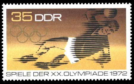 35 Pf Briefmarke: Spiele der XX. Olympiade 1972