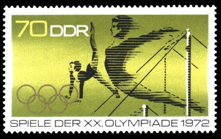 70 Pf Briefmarke: Spiele der XX. Olympiade 1972