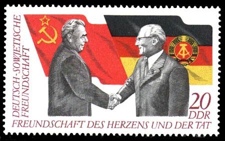 20 Pf Briefmarke: 25 Jahre Gesellschaft für DSF, Deutsch-Sowjetische Freundschaft