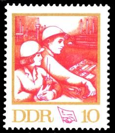 10 Pf Briefmarke: 8. FDGB-Kongress