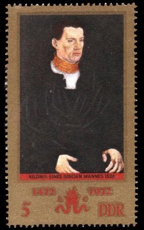 5 Pf Briefmarke: 500. Geburtstag Lucas Cranach