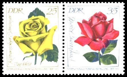 Briefmarke: Zusammendruck 25Pf - 35 Pf / Internationale Rosenausstellung
