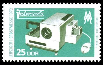 25 Pf Briefmarke: Leipziger Herbstmesse 1972