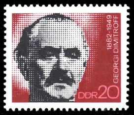 20 Pf Briefmarke: 90. Geburtstag G. Dimitroff