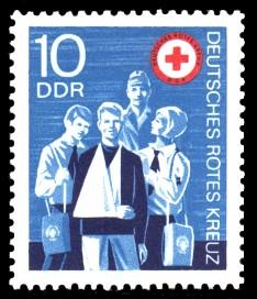 10 Pf Briefmarke: Deutsches Rotes Kreuz