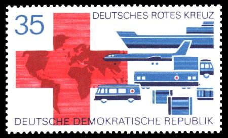 35 Pf Briefmarke: Deutsches Rotes Kreuz