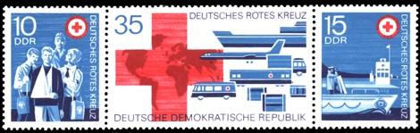 Briefmarke: Dreierstreifen - Deutsches Rotes Kreuz