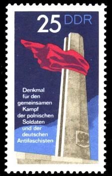 25 Pf Briefmarke: Internationale Mahn- und Gedenkstätten