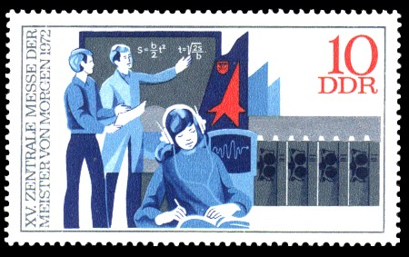 10 Pf Briefmarke: XV. Zentrale MMM