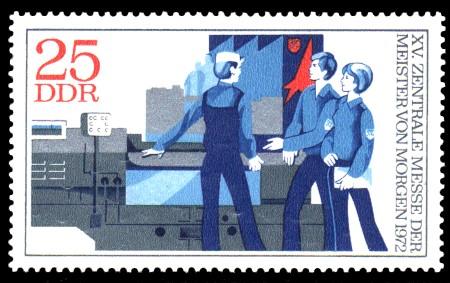 25 Pf Briefmarke: XV. Zentrale MMM
