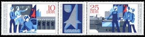 Briefmarke: Dreierstreifen - XV. Zentrale MMM