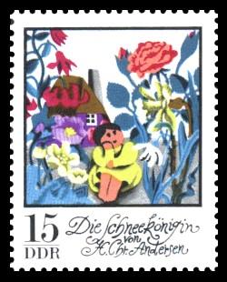 15 Pf Briefmarke: Wintermärchen - Die Schneekönigin