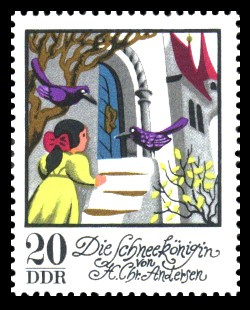 20 Pf Briefmarke: Wintermärchen - Die Schneekönigin