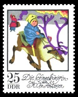 25 Pf Briefmarke: Wintermärchen - Die Schneekönigin