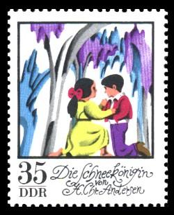 35 Pf Briefmarke: Wintermärchen - Die Schneekönigin