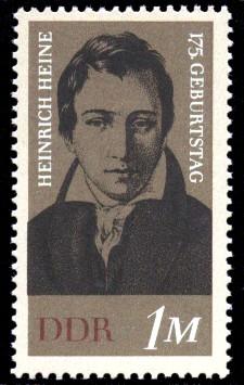1 M Briefmarke: 175. Geburtstag Heinrich Heine
