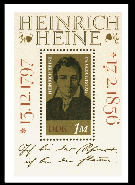 Briefmarke: Block - 175. Geburtstag Heinrich Heine
