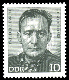 10 Pf Briefmarke: Bedeutende Persönlichkeiten, Friedrich Wolf
