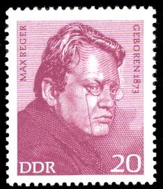 20 Pf Briefmarke: Bedeutende Persönlichkeiten, Max Reger
