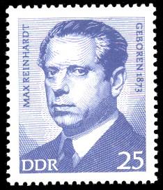 25 Pf Briefmarke: Bedeutende Persönlichkeiten, Max Reinhardt