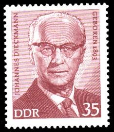 35 Pf Briefmarke: Bedeutende Persönlichkeiten, Johannes Dieckmann
