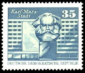 Sozialistischer Aufbau In Der Ddr Karl Marx Stadt Briefmarke Ddr