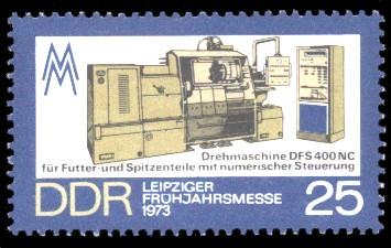 25 Pf Briefmarke: Leipziger Frühjahrsmesse 1973