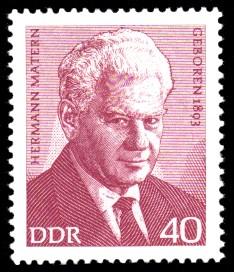 40 Pf Briefmarke: Bedeutende Persönlichkeiten, Hermann Matern