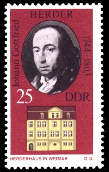 25 Pf Briefmarke: Historische Gedenkstätten in Weimar, Herderhaus