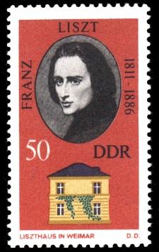 50 Pf Briefmarke: Historische Gedenkstätten in Weimar, Liszthaus