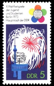 5 Pf Briefmarke: X. Weltfestspiele der Jugend und Studenten