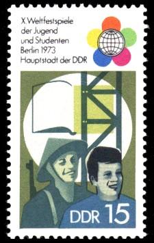 15 Pf Briefmarke: X. Weltfestspiele der Jugend und Studenten
