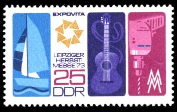 25 Pf Briefmarke: Leipziger Herbstmesse 73