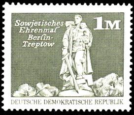 1 M Briefmarke: Sozialistischer Aufbau in der DDR, Treptower Ehrenmal Bln