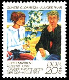 20 + 5 Pf Briefmarke: Briefmarkenausstellung junger Philatelisten