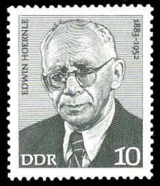10 Pf Briefmarke: Verdienstvolle Persönlichkeiten der Arbeiterbewegung, Edwin Hoernle