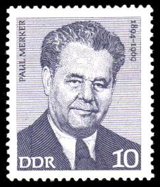 10 Pf Briefmarke: Verdienstvolle Persönlichkeiten der Arbeiterbewegung, Paul Merker