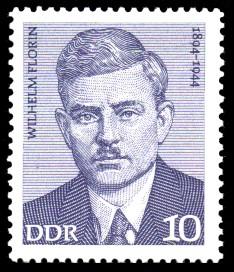 10 Pf Briefmarke: Verdienstvolle Persönlichkeiten der Arbeiterbewegung, Wilhelm Florin