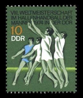 10 Pf Briefmarke: VIII. Hallenhandball WM