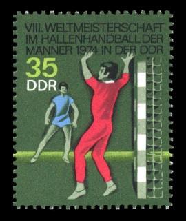 35 Pf Briefmarke: VIII. Hallenhandball WM