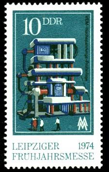 10 Pf Briefmarke: Leipziger Frühjahrsmesse 1974