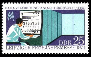 25 Pf Briefmarke: Leipziger Frühjahrsmesse 1974