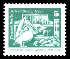 5 Pf Briefmarke: Sozialistischer Aufbau in der DDR, Tierpark Berlin