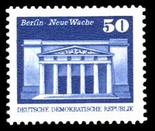 50 Pf Briefmarke: Soz. Aufbau in der DDR, Neue Wache Bln