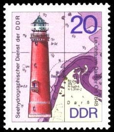 20 Pf Briefmarke: Leuchttürme der DDR, Leuchtturm Darßer Ort